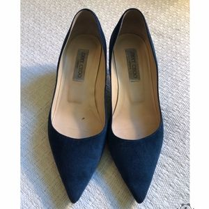 Jimmy Choo Dark Blue suede pumps EU 37.5